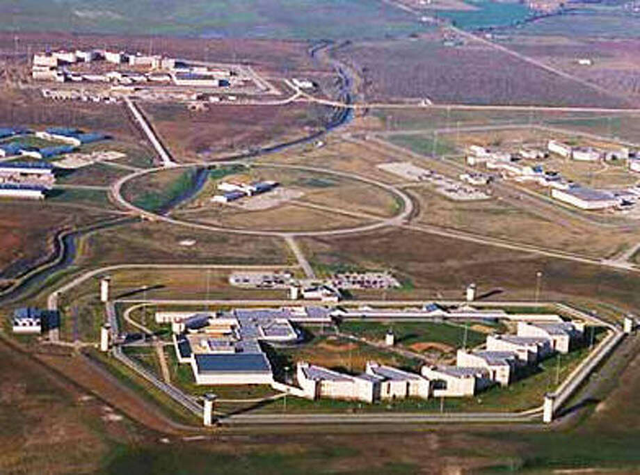 An overhead shot of the federal prison complex at Beaumont, Texas.
