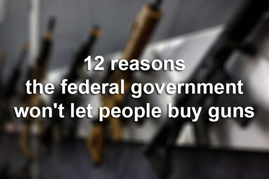 Between Nov. 30, 1998 and December 31, 2014, 1,166,676 requests to buy a firearm were denied. Take a look at the 12 most common reasons and how many times that reason was used to reject a buyer.  Photo: Todd Spoth/Houston Chronicle