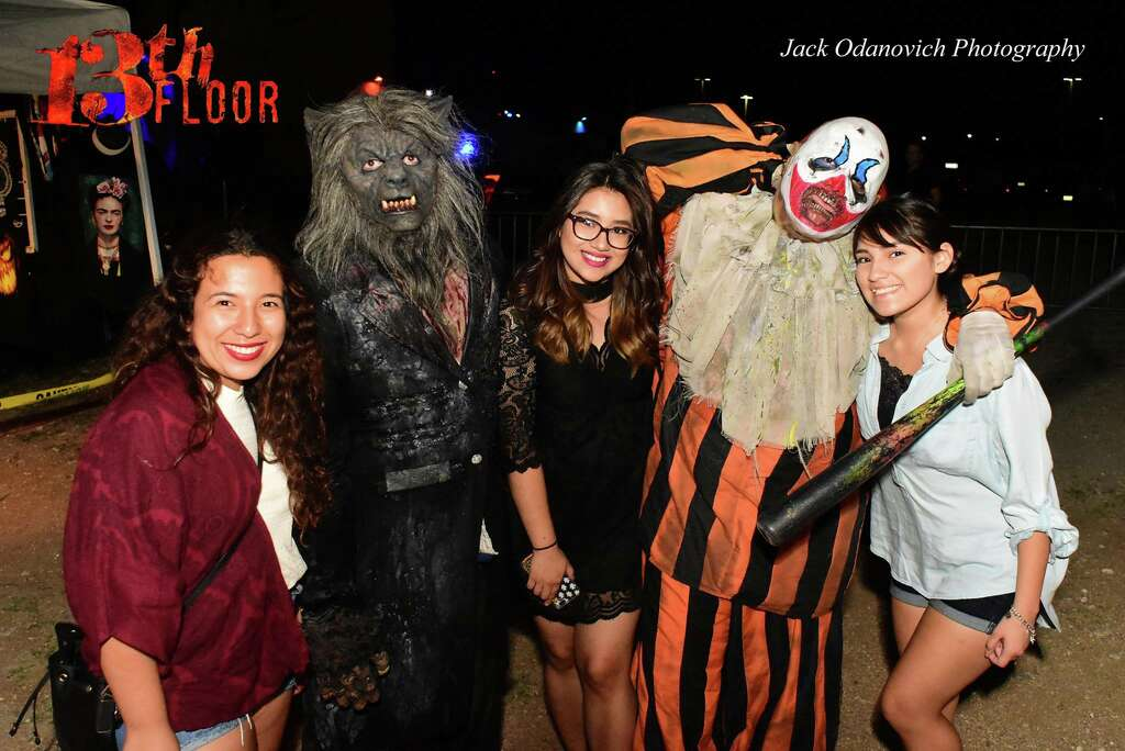Crowds Of Cowering Halloween Adventurers Poured Onto The Grounds Of The 13th  Floor Haunted House,