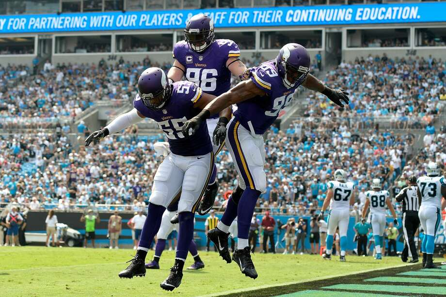 1 Minnesota Vikings (5-0): The Vikings have four defensive linemen -- Danielle Hunter, Everson Griffen, Brian Robison and Linval Joseph -- with more than three sacks on the season. Last week: 1 Photo: Grant Halverson/Getty Images