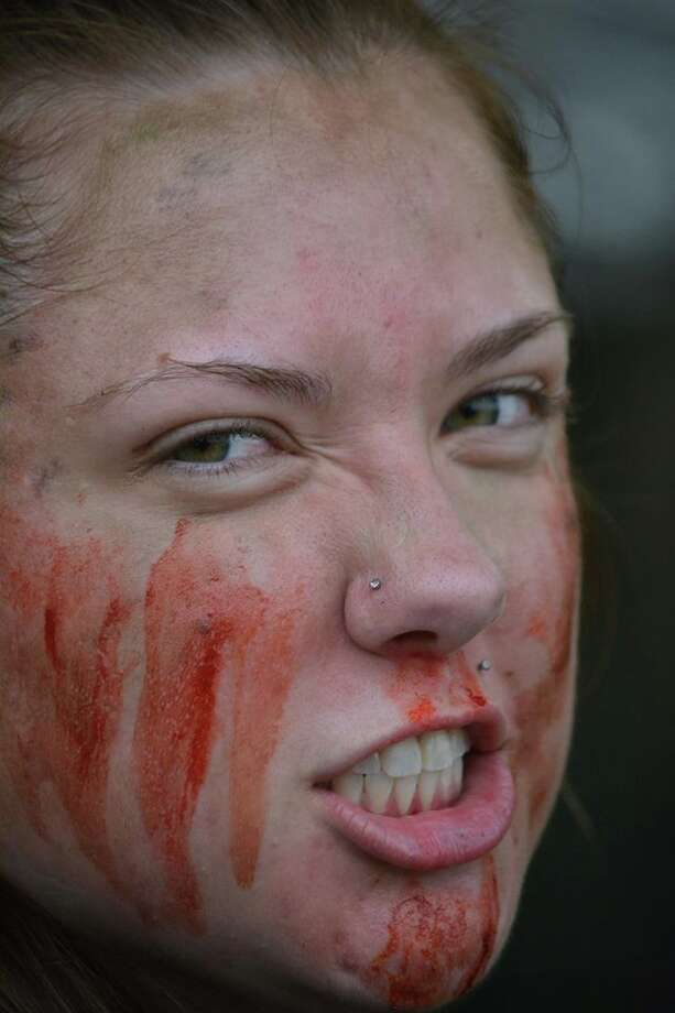 A scene from thethird annual Zombie Run 5K at City Forest on Saturday, Oct. 15, 2016.                Photo: Photo Provided