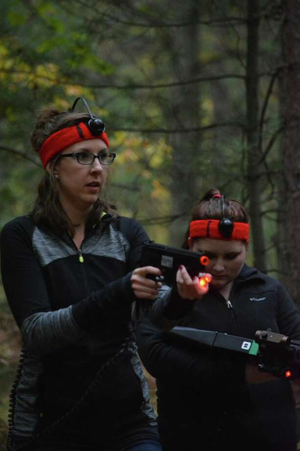 A scene from the Mid-Michigan Laser Combat zombie day. Photo: Photo Provided