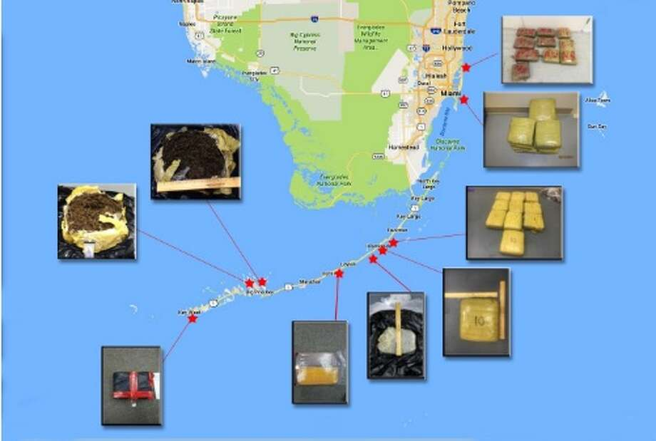 The U.S. Customs and Border Patrol and the U.S. Coast Guard had 15 different drug seizures from Sept. 15 to Oct. 12, 2016, in the Florida Keys and eastern Florida.U.S. Customs and Coast Guard reports nearly 400 pounds of marijuana, with a street value of $306,400, was seized.Click through the slideshow to see maps that explain the world's drug trade. Photo: U.S. Customs And Border Protection