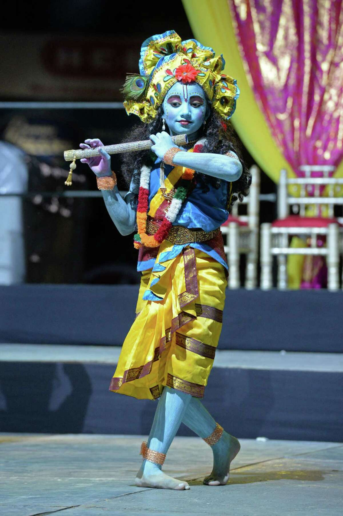 Stage performers at the Diwali Festival in Sugar Land.