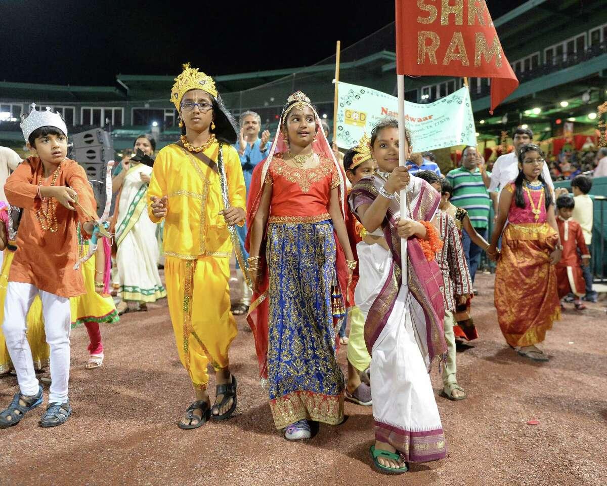 Participants at the Diwali Festival in Sugar Land.