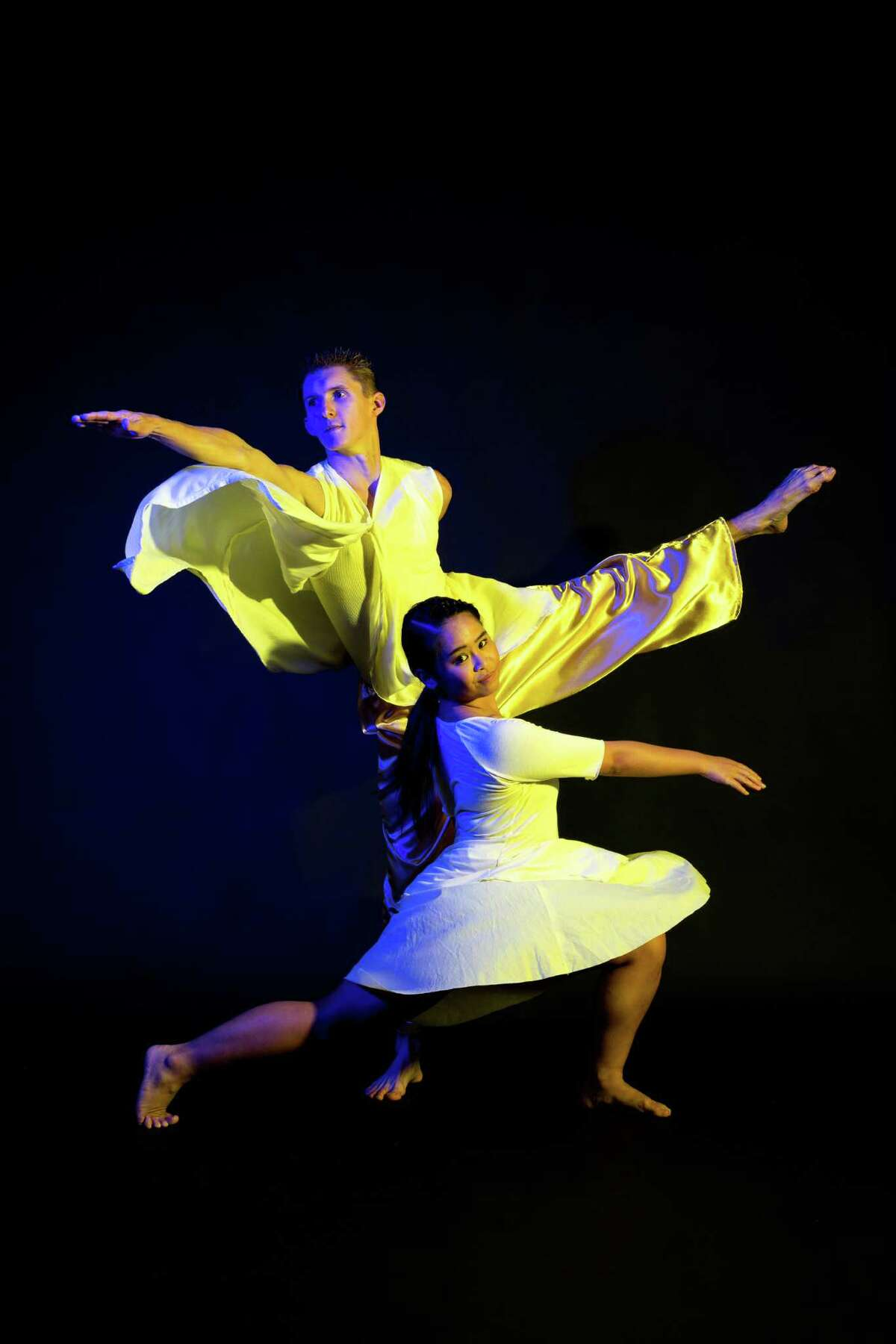 """Brian Peck and Jerrica Mark are among the performers in Karen Stokes Dance's """"Deep Seaspace"""" Oct. 20-22 at Hobby Center."""