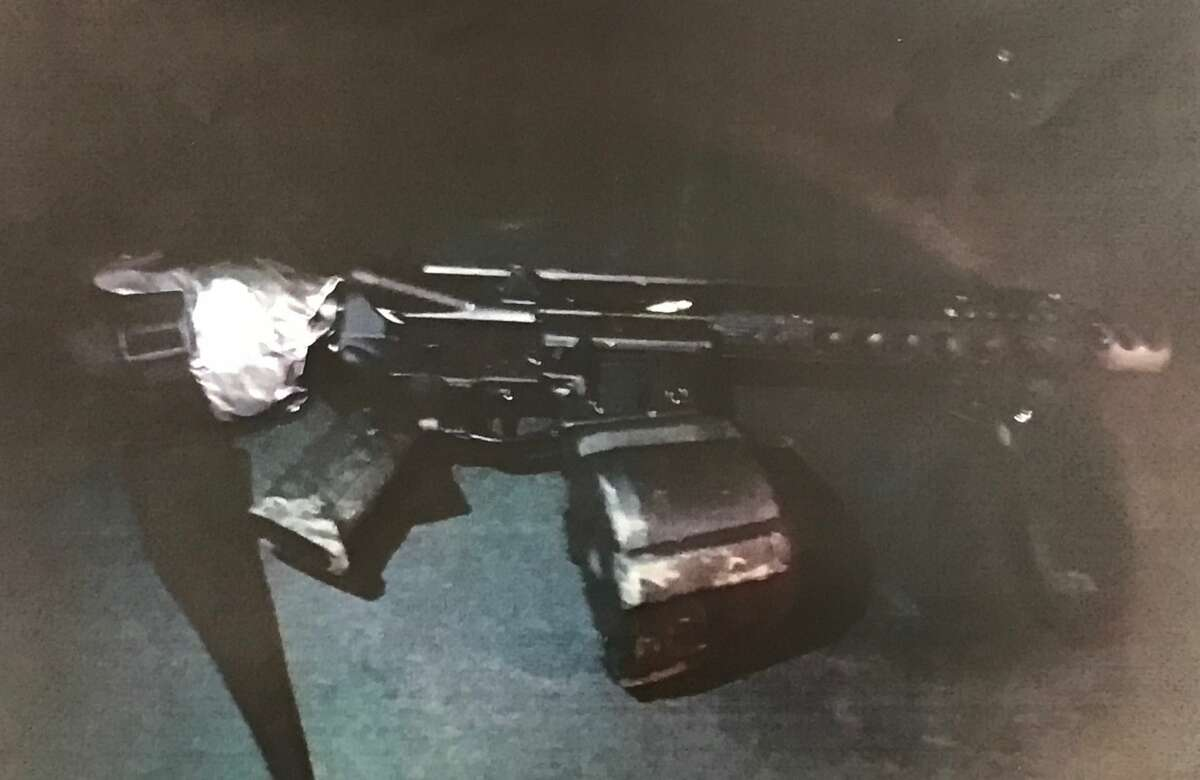 A photograph of the weapon police say Adam Powell, 41, pointed at officers is shown after a news conference on Monday, Oct. 16, 2017 where police discussed the Sunday, Oct. 16 shooting shooting of Powel by Vallejo Police officers.