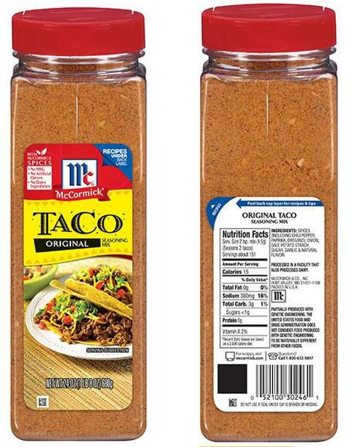 is recall 24 oz. Club Size McCormick® Original Taco Seasoning ...