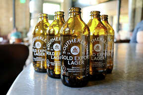 Southerleigh Fine Food & Brewery at The Pearl is rolling out its first six-packs for sale at Central Market — in Pearl-style stubby bottles.