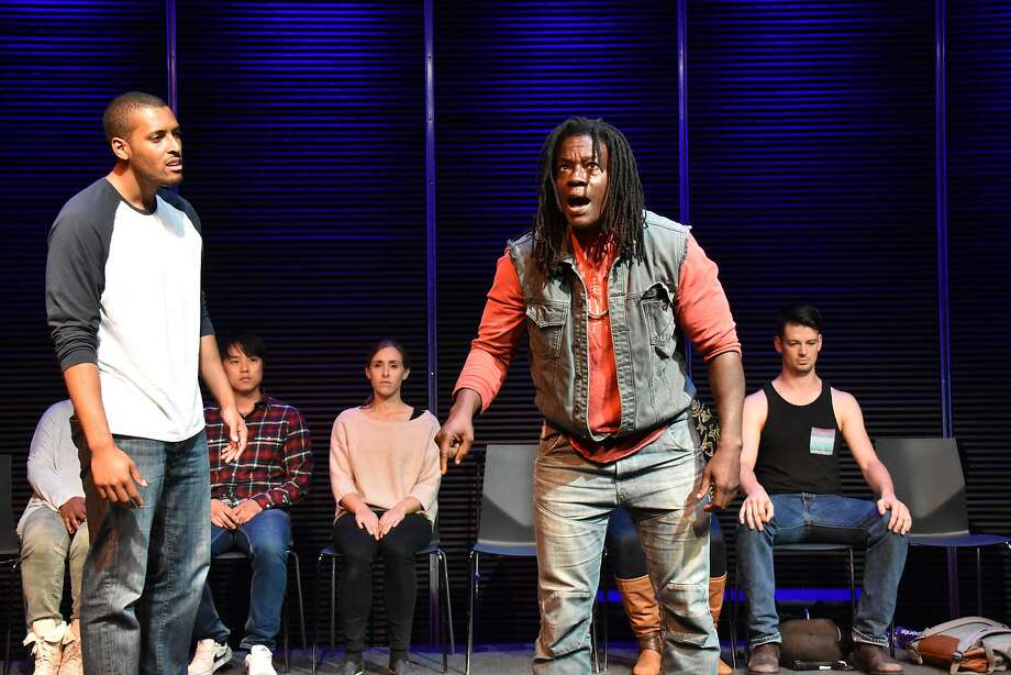 """William Bryant Jr. (left) and Skyler Cooper in """"Every 28 Hours."""" Photo: Jay Yamada, FaultLine Theater"""