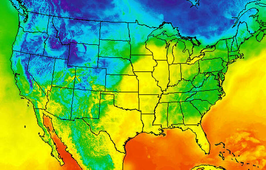 This map from the National Weather Service shows temperatures across the country on Monday, Oct. 17, 2016.Take a closer look at some of the strangest weather terms from around the county.