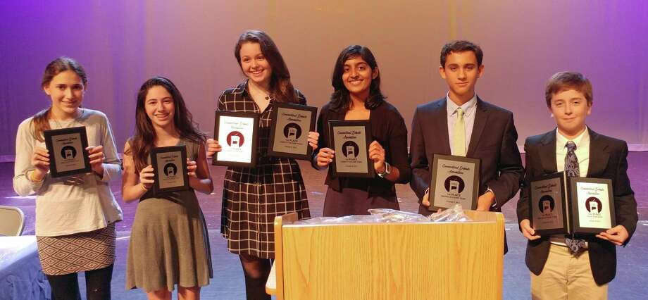 GHS Debate Club members pose with their awards. From left to right: Lily Adam, Julia Blank, Elizabeth Murray, Shobhita Sundaram, Lucas Gazianis and Toby Hirsch. Photo: Contributed