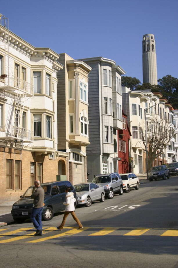 The North beach neighborhood and Coit Tower are seen in a file photo. Photo: John S Lander