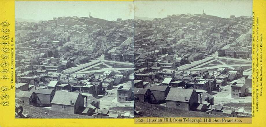 Russian Hill, from Telegraph Hill, San Francisco, 1900. From the New York Public Library. (Photo by Smith Collection/Gado/Getty Images). Photo: Smith Collection/Gado/Getty Images