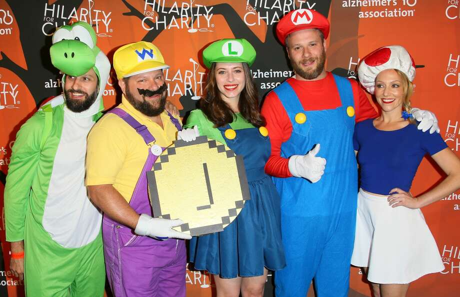 LOS ANGELES, CA - OCTOBER 15: (L-R) HFC Board Members Matthew Bass, Raffi Adlan, co-founders Lauren Miller, Seth Rogen and HFC board member Tum Cohl attends Hilarity for Charity's 5th Annual Los Angeles Variety Show: Seth Rogen's Halloween at Hollywood Palladium on October 15, 2016 in Los Angeles, California.(Photo by JB Lacroix/WireImage) Photo: JB Lacroix/WireImage