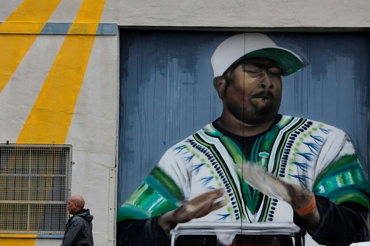 A mural is seen on Egbert Ave in the Bayview neighborhood on Friday, Oct. 14, 2016 in San Francisco , Calif. The Bayview arts organization Imprint.City will be adding 9 new murals on Egbert Ave in the weeks leading up to Bayview Live festival.