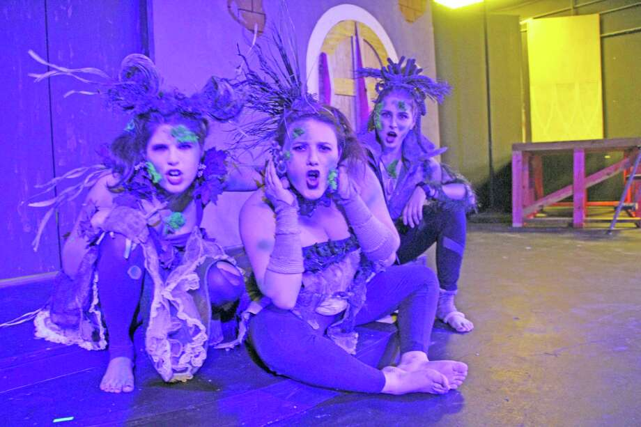 "The Pearl Theater will present the re-imagined classical myth of Orpheus, ""Eurydice"" by Sarah Ruhl, starting Oct. 21. Performers include Rebecca Lewis, left,  Sara Denton and Amber Holtz."