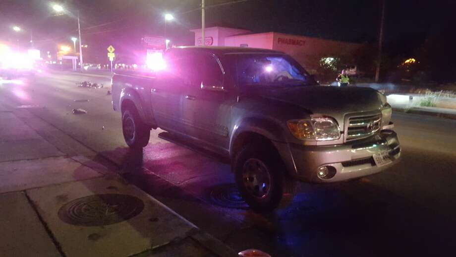 A 7-year-old boy, his mother, 30 and the disabled man, 49, were struck by a pickup while crossing a South Side street Monday Oct. 17, 2016. Photo: Jeremy Gerlach