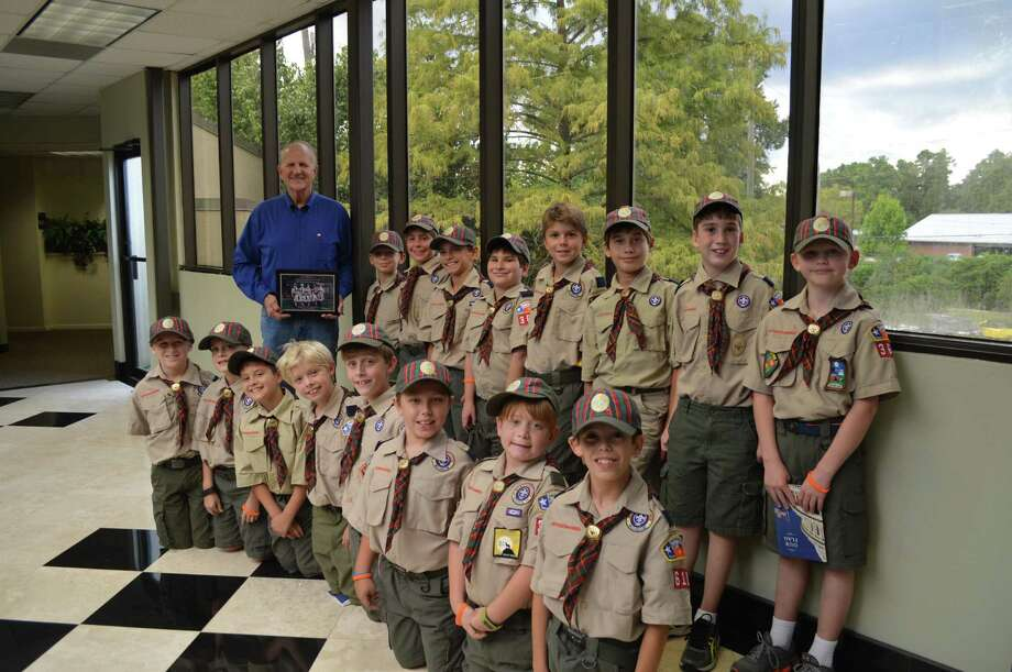 """U.S. Rep. Ted Poe meets with a group of Webelos from the Sam Houston Area Council. """"This was an impressive group that asked some excellent questions about what it means to be a member of Congress, the work that I do in Washington, and what life was like as a judge. These young Texans are learning service, community engagement, and leadership development at an early age, and I loved spending some time with them,"""" Poe said. Photo: Submitted Photo"""