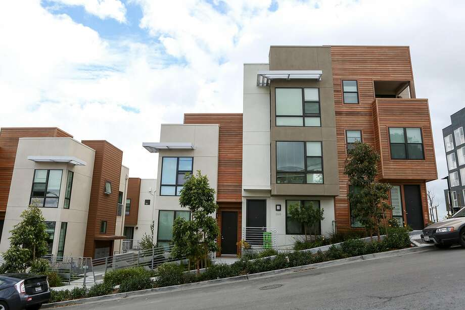 One of the many townhome complexes in the The Shipyard, a large new housing development on former Hunters Point Naval Shipyard, in San Francisco on Saturday, Oct 15, 2016. Photo: Amy Osborne, Special To The Chronicle