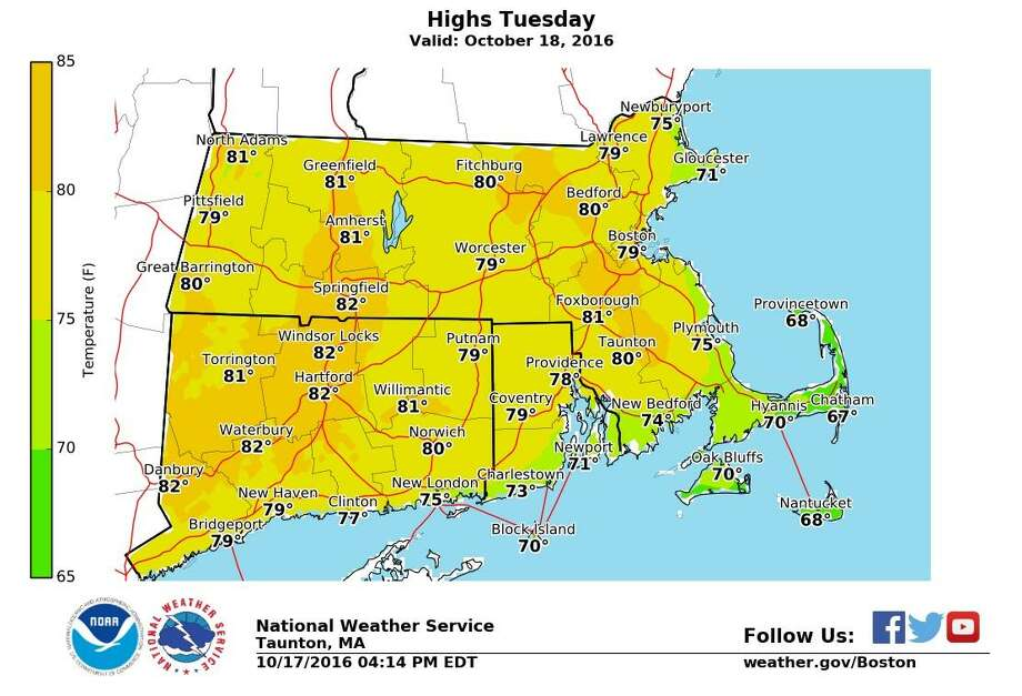 TODAY'S FORECAST: Mostly sunny, high near 82