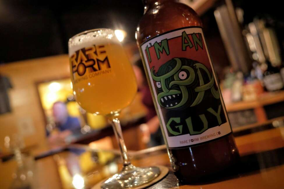 """I'm an IPA Guy from Rare Form Brewing Company. This is Rare Form's rotating hop series, with the latest featuring some Pekko and Jarrylo hops. Frank Sicari from Saratoga Eagle weighs in. """"I look forward to every new iteration of this beer and the most recent little guy is no exception. It doesn't hurt that the beer is fun to order and brewed two blocks from my doorstep."""""""