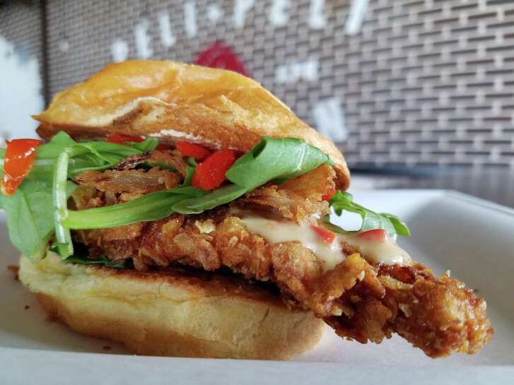 Africkin' Chicken Tenders sandwich at Peli Peli Kitchen, a new fast casual concept from the owners of Peli Peli restaurant.
