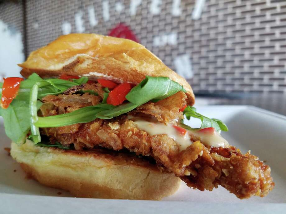 Africkin' Chicken Tenders sandwich at Peli Peli Kitchen, a new fast casual concept from the owners of Peli Peli restaurant. Photo: Peli Peli Kitchen