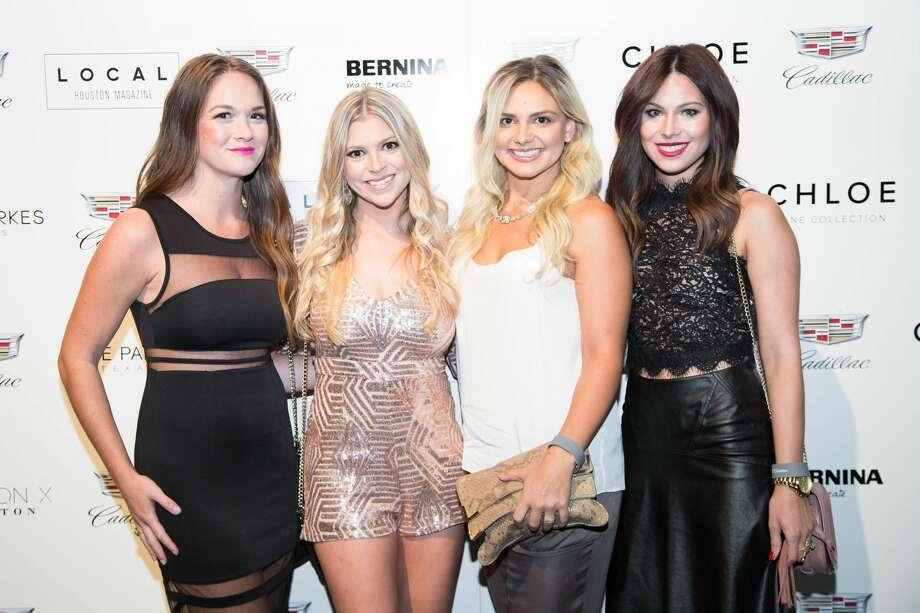Chelsea Cavitt, Laura Anderson, Brittany McClauley, Elyse Spreen Photo: Courtesy Of Fashion X Houston