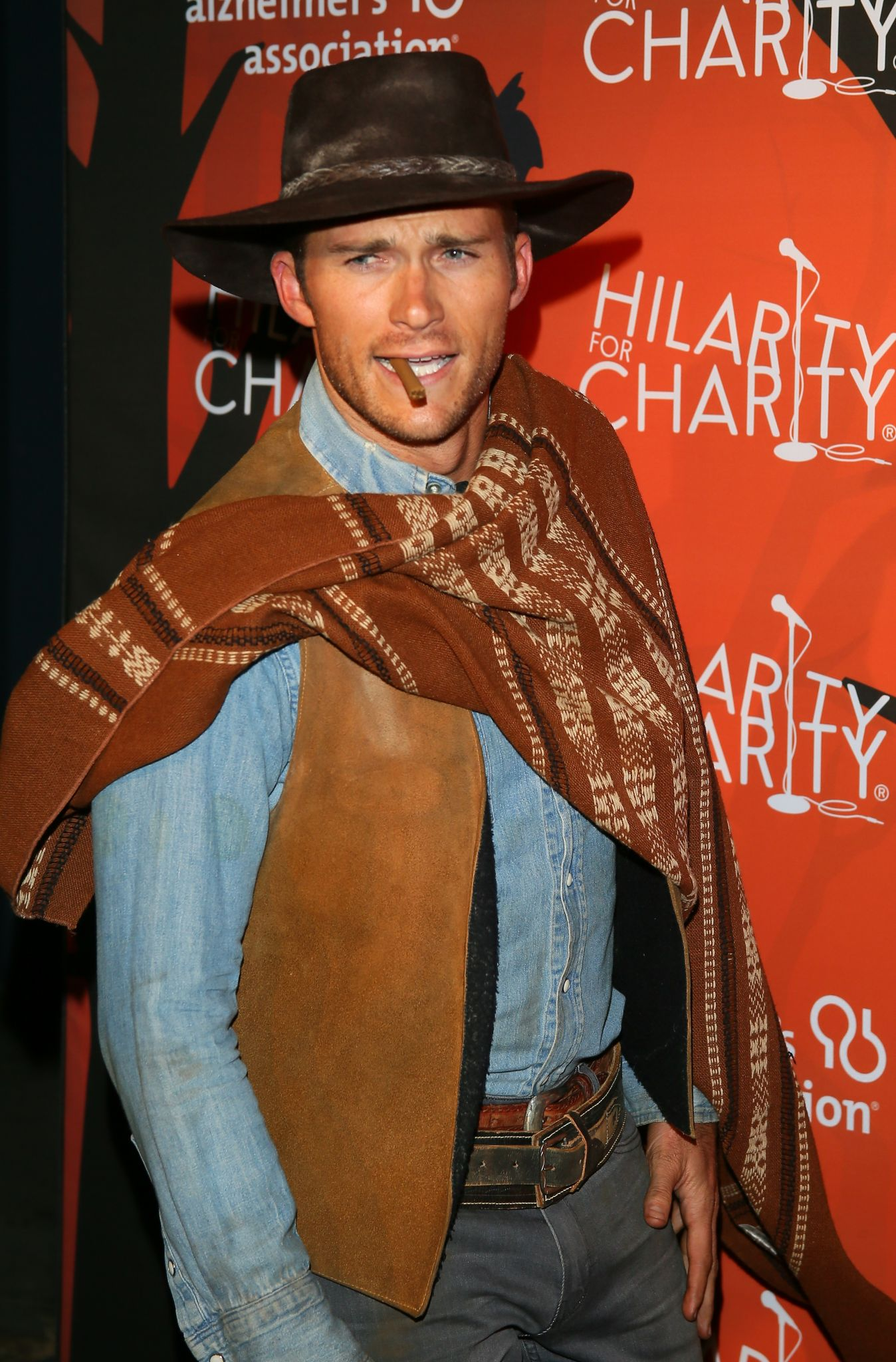 Scott Eastwood dressed up as Clint Eastwood's Character Man With ...