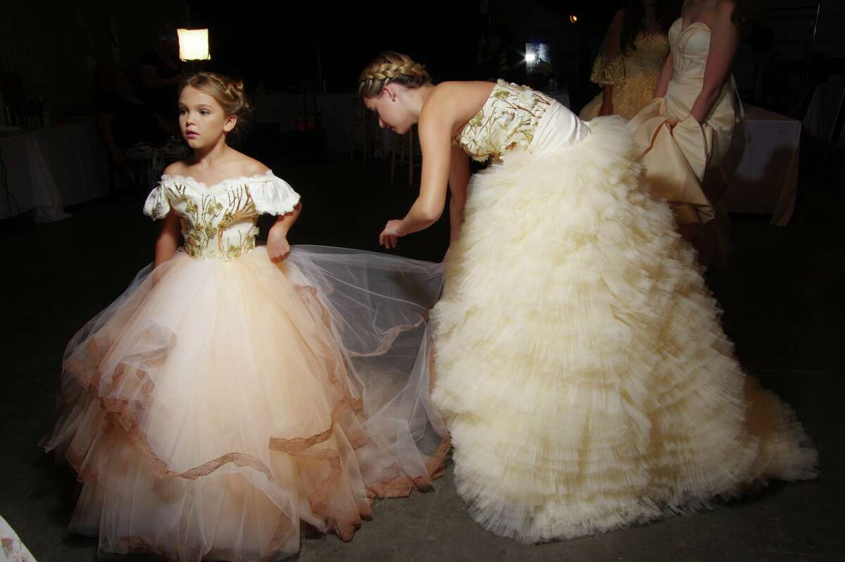 Mini me fashion backstage, from Fashion X founder Matt Swinney's personal archives.