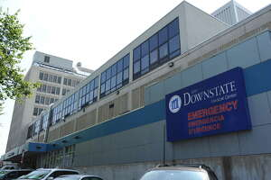 This is SUNY Downstate Medical Center on Clarkson Avenue in Flatbush, Brooklyn.