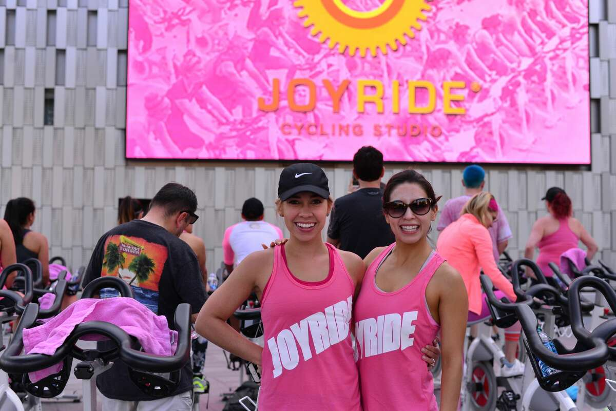 San Antonio cyclists pushed themselves to the limit while raising money for National Breast Cancer Awareness Month on Oct. 7, 2016, at the Tobin Center. The event was hosted by the JoyRide Cycling Studio.