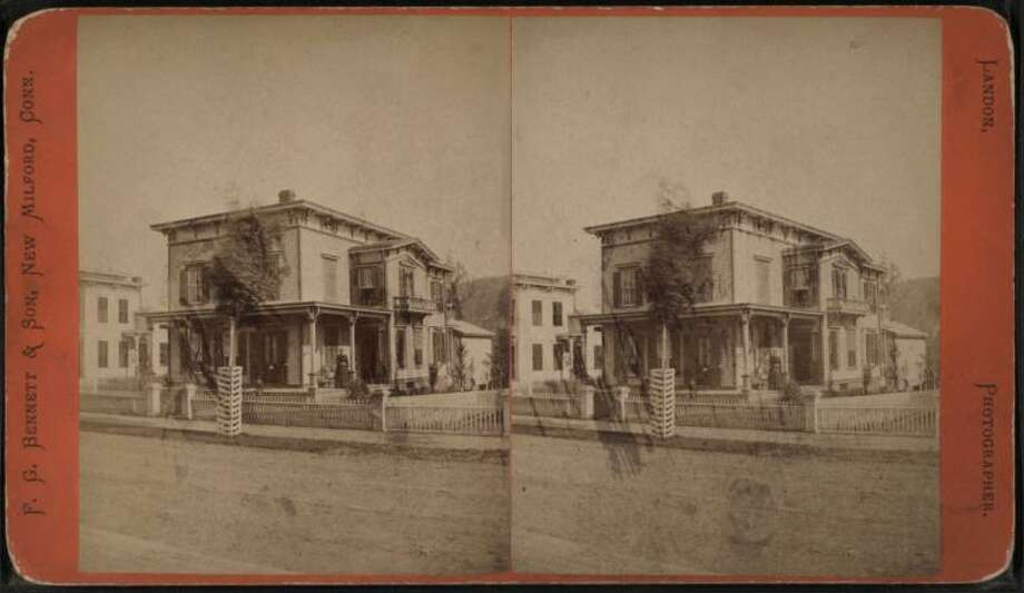 A view of a home on South Main Street in New Milford, Conn., circa 1880. Photo: Landon, S. C. (Seth C.) (b. 1825), New York Public Library Digital Collection