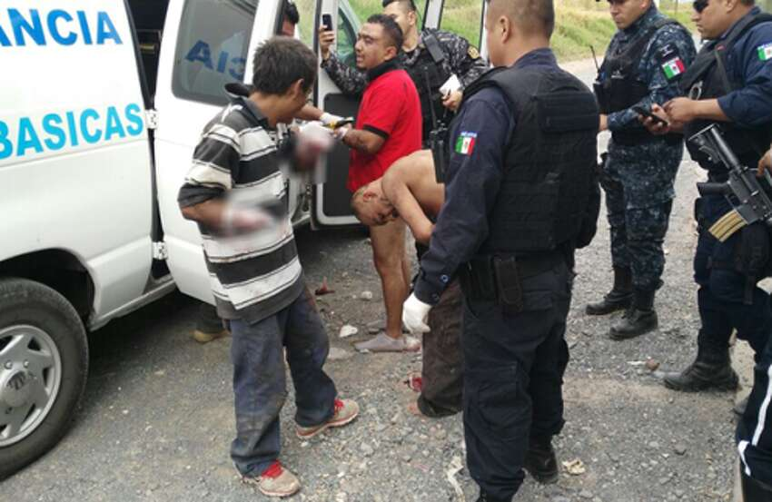 Mexican authorities say six people were found alive Monday, Oct. 17, 2016, with their hands cut off in the western state of Jalisco, along with another person who was killed.