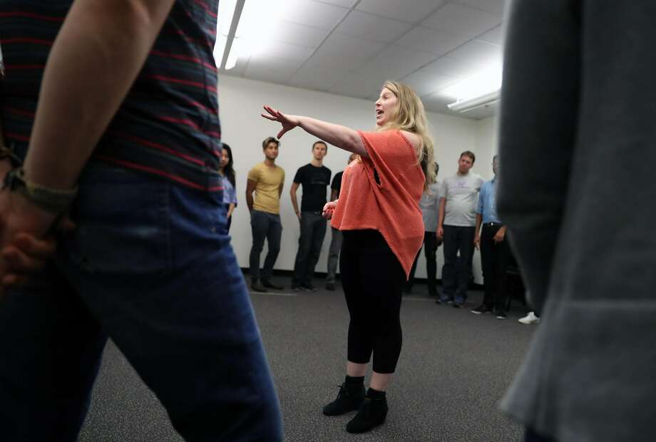 Artistic Director Jill Eickmann teaches a drop-in improv class at the Leela Improv Training Center in San Francisco, Calif., on Monday, October 17, 2016. Photo: Scott Strazzante, The Chronicle