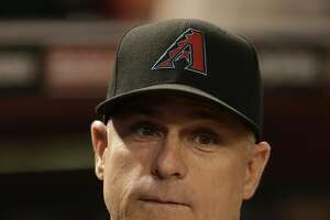 Arizona Diamondbacks manager Chip Hale (3) in the first inning during a baseball game against the San Diego Padres, Friday, Sept. 30, 2016, in Phoenix. (AP Photo/Rick Scuteri)