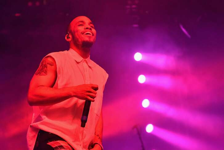 INDIO, CA - APRIL 17:  Musician Anderson .Paak performs onstage during day 3 of the 2016 Coachella Valley Music And Arts Festival Weekend 1 at the Empire Polo Club on April 17, 2016 in Indio, California.  (Photo by Mike Windle/Getty Images for Coachella)