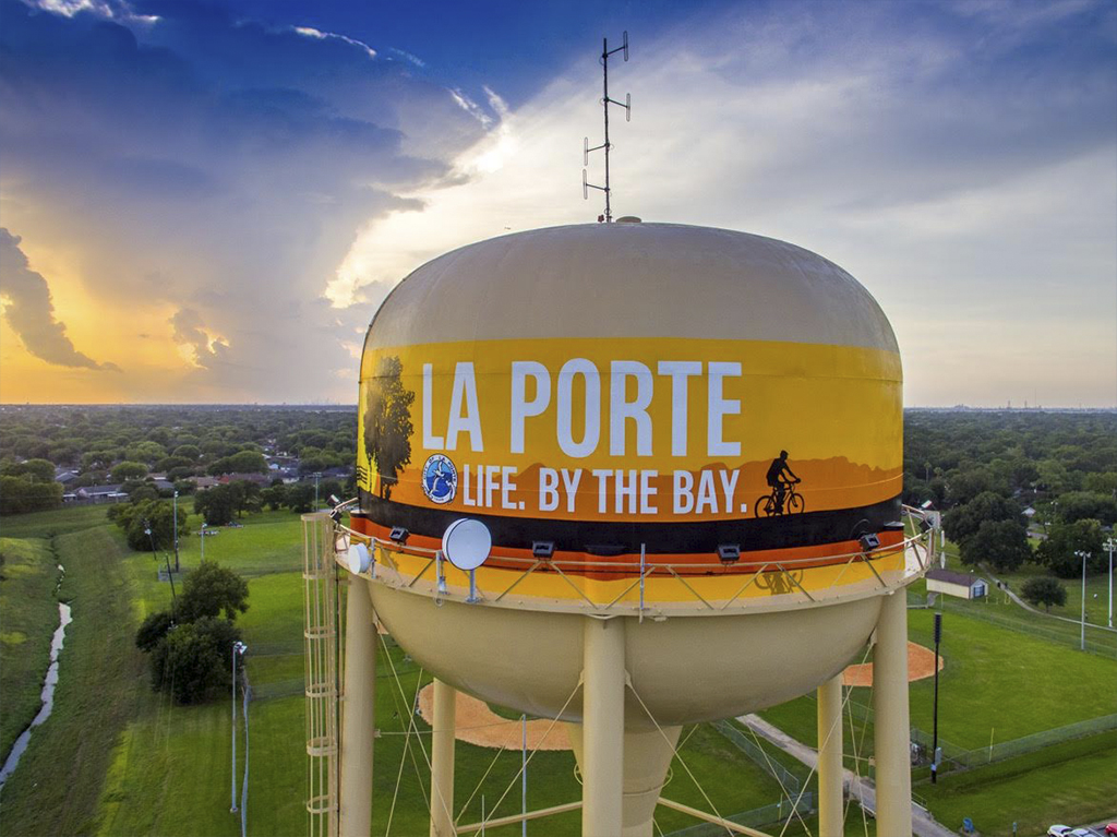 La porte water tower is finalist for 39 2016 tank of the for La porte houston