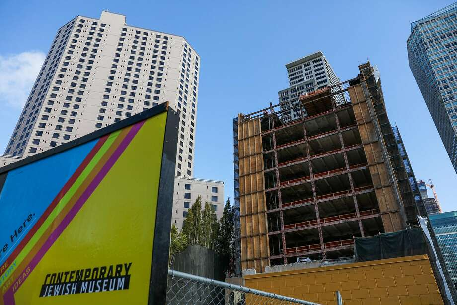 Millennium Partners' construction project at 706 Mission St., future home of the Mexican Museum and condominiums. Photo: Gabrielle Lurie, The Chronicle
