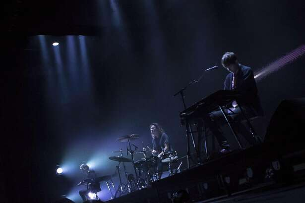 James Blake performs a make-up concert Monday, Oct. 17 2016, at the Fox Theater in Oakland after canceling his appearance at Treasure Island Music Festival the night before.