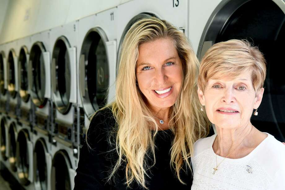 The Laundry Room owner Sofia Sandolo, left, and manager Carol Nardi in the company's Hamilton Avenue in Stamford, Conn., Oct. 17, 2016. Sandolo and her husband Joey have another location in Greenwich. Photo: Keelin Daly / For Hearst Connecticut Media / Stamford Advocate freelance