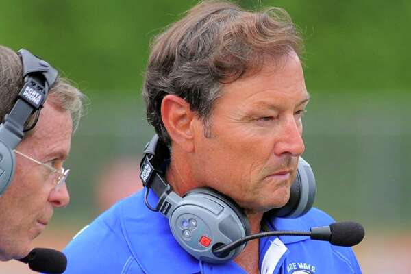 Darien coach Rob Trifone at a varsity football practice at the high school in Darien on Sept. 1, 2016.