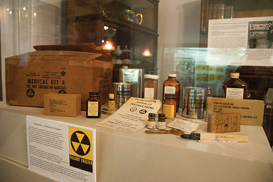 An exhibit showing items from a fallout shelter is currently on display at the Madison County Historical Museum in Edwardsville. Photo: Zachary Foote/Intelligencer