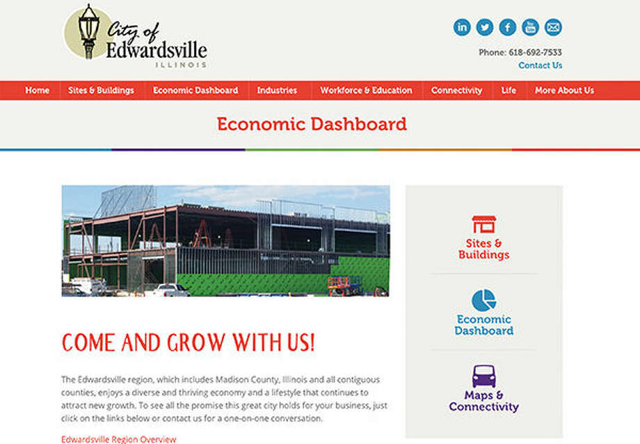 A snapshot of the Economic Dashboard category that will be on the city's new website for potential investors, developers and businesses. Photo: For The Intelligencer