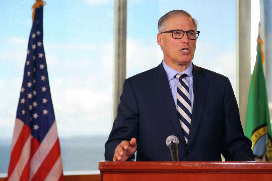 Governor Jay Inslee speaks during a press conference announcing new federal actions to protect and recover the health of Puget Sound, the nation's largest estuary, Oct. 18, 2016.  Similar actions have been taken in recent years to protect Chesapeake Bay and the Great Lakes. Photo: GENNA MARTIN, SEATTLEPI.COM / SEATTLEPI.COM