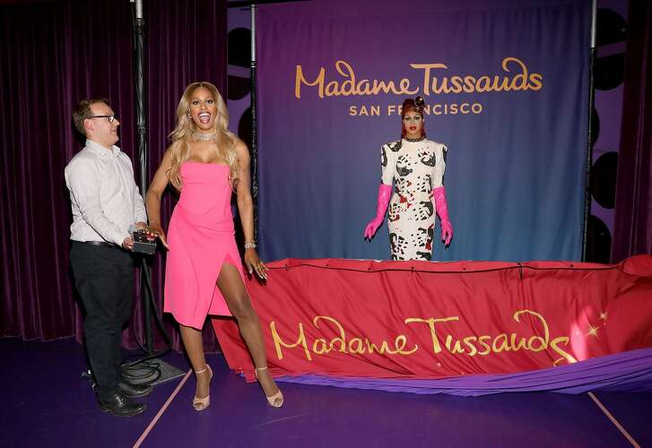 "CA - OCTOBER 13:  Madame Tussauds San Francisco unveils Laverne Cox as Dr. Frank-N-Furter from ""Rocky Horror Picture Show"" at Madame Tussauds on October 13, 2016 in Hollywood, California.  (Photo by Rachel Murray/Getty Images for Madame Tussauds San Francisco )"