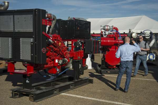 New and innovative equipment is on display Tuesday 10-18-16 at the 2016 Permian Basin International Oil Show at Ector County Collisium where attendees can talk with vendors from around the world. Tim Fischer/Reporter-Telegram