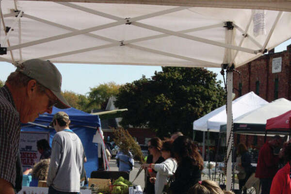Customers check out the items at the Port Austin Farmers Market this past Saturday. Customers took advantage of the great weather to shop for fresh food, handmade crafts, jewelry, resale items and doggie treats. Saturday marked the final market for the 2016 season.