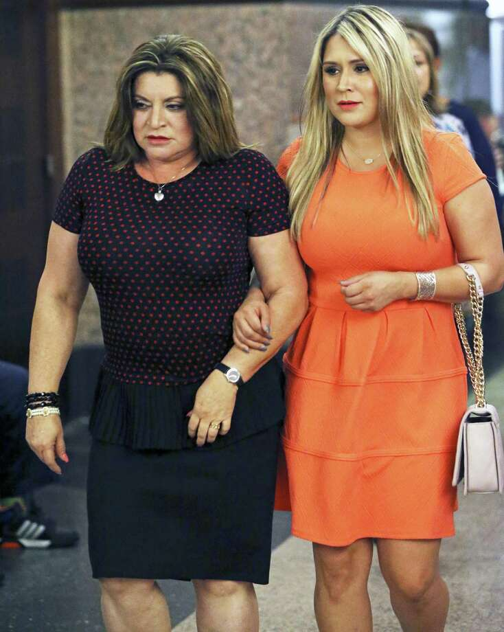 "Frances Hall (l) and daughter Dominique ""Nikki"" Hall return to the courtroom during Frances Hall's murder trial in August. Hall was sentenced to two years in prison for the 2013 murder of her husband, trucking tycoon Bill Hall Jr. Photo: Tom Reel /San Antonio Express-News / 2016 SAN ANTONIO EXPRESS-NEWS"